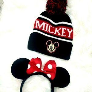 Mickey Mouse Beanie Minnie Mouse Ears